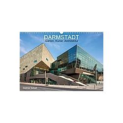 Darmstadt - Gärten, Kunst, Architektur (Wandkalender 2021 DIN A3 quer)