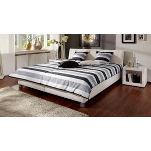 Gepolstertes Bett Remigio - 180x200 cm - grau - ohne Matratze