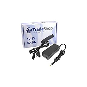 Notebook Laptop Netzteil Ladegerät Ladekabel Adapter 19,5V 6,15A 120W inkl. Stromkabel ersetzt Sony VAIO PCGA-AC19V7 PCGA-19V7 PCGA-AC-71 PCGA-ACX-1 PCGA-AC-19-V-6 PCGA-AC-19-V-7 PCGA-19-V-7