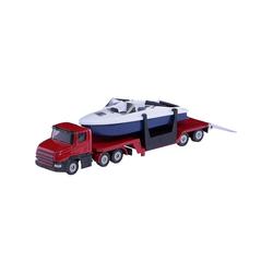 Siku Spielzeug-Auto SIKU 1613 Tieflader mit Boot