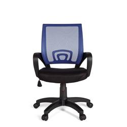 Amstyle Drehstuhl SPM1.077, Bürostuhl RIVOLI Blau Schreibtischstuhl mit Armlehne Bürodrehstuhl Jugendstuhl