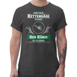 Shirtracer T-Shirt Reichet mir die Kettensäge - Sprüche Statement mit Spruch - Herren Premium T-Shirt Spruchshirt mit Sprüchen XXL