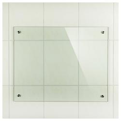 Mucola Küchenrückwand Spritzschutz Klarglas Glasrückwand Fliesenspiegel Herdspritzschutz Herdblende aus ESG Glas Wandschutz, (1-tlg), Inkl. Montagematerial 90 cm