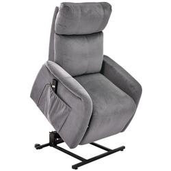 bv-vertrieb TV-Sessel TV-Sessel TV-Fernsehsessel mit Aufstehhilfe, TV-Sessel TV-Fernsehsessel mit Aufstehhilfe Seniorensessel Bezug anthrazit - (3820) grau