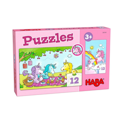 Haba Puzzle Puzzles Einhorn Glitzerglück – Rosalie & Friends, Puzzleteile
