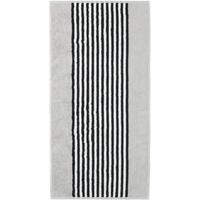 CAWÖ Black & White Handtuch 50 x 100 cm silber