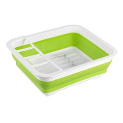 WENKO Küchenhelfer-Set Geschirrabtropfer faltbar Grün/Weiß