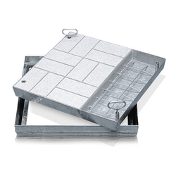 Zarges Schachtabdeckung aus Stahl mit Wanne 635 mm x 635 mm