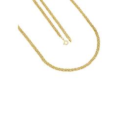 Firetti Collier In Königskettengliederung, 4,4 mm breit, vergoldet, Glanz, beidseitig bombadiert, halbmassiv