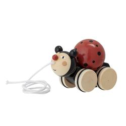 Bloomingville Nachziehspielzeug, rot, Lotus Holz
