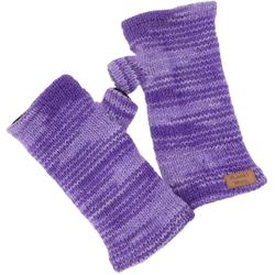 Guru-Shop Armstulpen Handstulpen, hangestrickte Wollstulpen aus.. lila