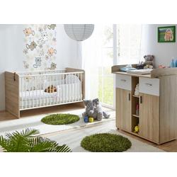 Ticaa Babymöbel-Set Nico, (Set, 2-tlg), Bett + Wickelkommode