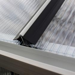 Vitavia Windsicherung für Gewächshausplatten,schwarz,4 mm