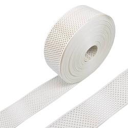 Vogelschutzgitter / Lüftungsgitter / Traufgitter - PVC weiß - 80 mm - 5 m