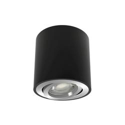 linovum LED Aufbaustrahler Aufbauleuchte CORI in schwarz gebürstet schwenkbar mit LED GU10 6W warmweiß 230V