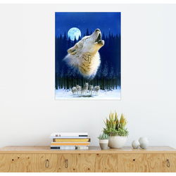 Posterlounge Wandbild, Wolfsherde 70 cm x 90 cm