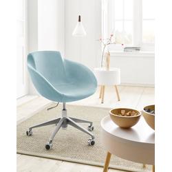 andas Drehstuhl Tia mit Gasdruckfeder und Rollen blau