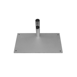 Delschen Betonschirmständer Sonnenschirmständer für Balkon Stahl Silber bis 40 mm Stamm 23 kg