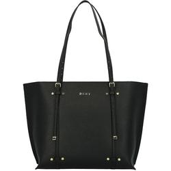 DKNY Bo Saffiano Shopper Tasche 30 cm black gold