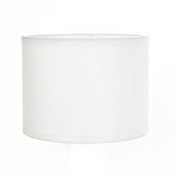 Licht-Erlebnisse Lampenschirm GING Weißer Lampenschirm Stoff Zylinder Tischlampe Lampe