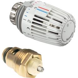 Heimeier Thermostat-Nachrüst-Set 3500-12.800 weiß, mit Thermostat-Oberteil/-Kopf K, für DN 15