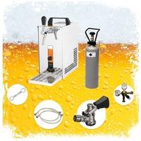 ich-zapfe Komplett Set - Zapfanlage, Bierkoffer, Durchlaufkühler PYGMY 25 1-leitig Trockenkühler, 30 Liter/h,