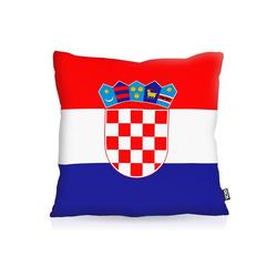 Kissenbezug, VOID, Kroatien Croatia EM WM Flagge Fahne Fan Fussball 60 cm x 60 cm