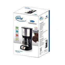 Elta Filterkaffeemaschine Elta Edelstahl Kaffeemaschine, Permanentfilter, Elta Kaffeemaschine Edelstahl Filterkaffeemaschine Glas Kanne Kaffee Maschine