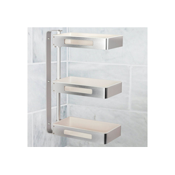 ONVAYA Drehregal ONVAYA® Drehbares Regal mit 2/3 Ebenen, ideal als Küchenregal, Gewürzregal oder Badregal, ohne Bohren, Eckregal, Organizer drehbar, aus rostfreiem Aluminium (Drehbares Regal 3 Ebenen)