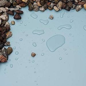NORDFOL 10,99€/m2 Teichfolie blau/Sand PVC -P 1,5mm stark - Schwimmteichfolie Folie Schwimmteich (PVC-P, 8m x 8m (64m2))
