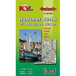 KVplan Freizeit Husumer Bucht mit Stadtplan Husum - Buch