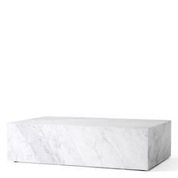 Plinth Low Weißer Marmor  Menu
