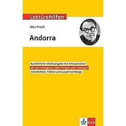 Lektürehilfen Max Frisch: Andorra - Buch