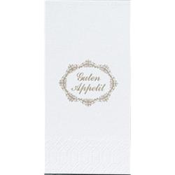 DUNICEL Zelltuch-Servietten mit Motiv, Mundtuch im Format: 33 x 33 cm, 1 Karton = 1200 Stück, Guten Appetit