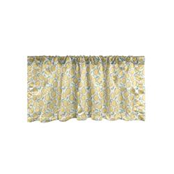 Scheibengardine Vorhang Volant für Küche Schlafzimmer Dekor mit Stangentasche, Abakuhaus, Zitronen Köstliche Zitrusfrucht Kunst 137 cm x 30 cm