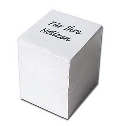 500 Blatt Notizzettel weiß