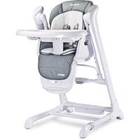 Caretero TERO-761 2in1 Babyhochstuhl + Elektrische Babyschaukel Indigo grau