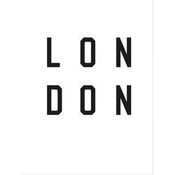 Poster »Typographie London«, Bilder, 48661720-0 weiß 60x80 cm weiß