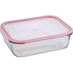 Bergner Lunchbox BERGNER Vorrats-Dose mit Deckel Brotdose Lunchbox BG-5838-RD-6