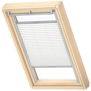 VELUX Original Plissee für Dachfenster, C02, Uni Weiß