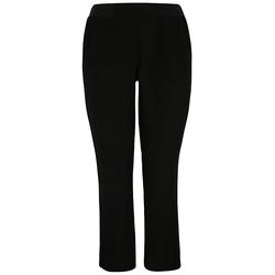 Leinenhose mit elastischem Bund Doris Streich schwarz