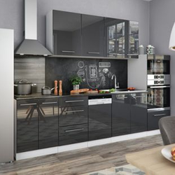 Vicco Küchenblock S-Line Küchenzeile Einbauküche 295 cm