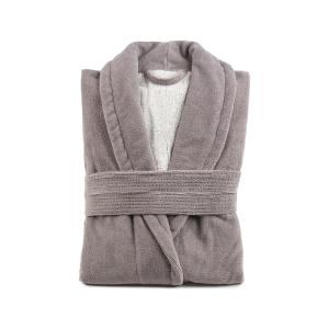 Gözze Turin Soft Bademantel mit Schalkragen, taupe, Morgenmantel aus 50% Baumwolle und 50% Microfaser, Größe: XL