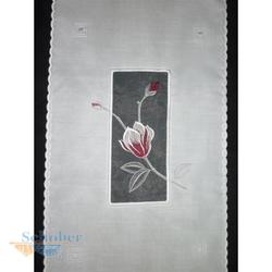 Schiebeelement FlächePannaux natur weiß rot Blumen br 40 cm, Reststück 4,4 m
