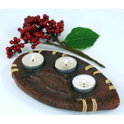 Guru-Shop Windlicht Kerzenhalter, Teelichthalter Keramik Nr.9