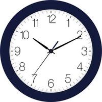 EUROTIME 88800-08-5 Quarz Wanduhr 30cm x 4.5cm Indigo Schleichendes Uhrwerk (lautlos)