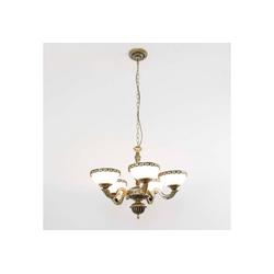 Licht-Erlebnisse Kronleuchter ALMUTH Kronleuchter Messing Antik Glas Wohnzimmer Esstisch Lampe