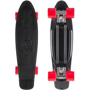 BIKESTAR Vintage Retro Cruiser Skateboard 60mm für Kinder und Erwachsene auch Anfänger ab ca. 6 - 8 Jahre   Schwarz & Rot