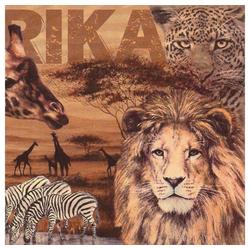 Linoows Papierserviette 20 Servietten Afrika, die Tiere Afrikas in der, Motiv Afrika, die Tiere Afrikas in der Savanne