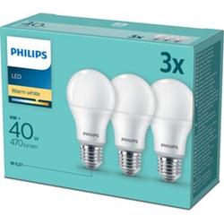 Philips LED Birne E27 40W 3er Pack